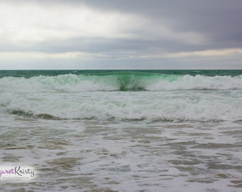 Waves Rolling In - beach california sand coast photography