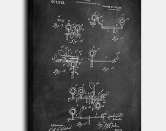 Flute Canvas Print, Flute Patent,  Vintage Art,  Blueprint,  Poster, PatentPrints, Wall Art, Decor [MU21-3C]