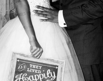 Chalkboard Happily Ever After Home Decor Print