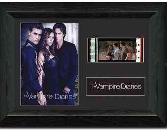 The Vampire Diaries 35 mm Film Cell Stunning display Cast Signed Paul Wesley Ian Somerhalder