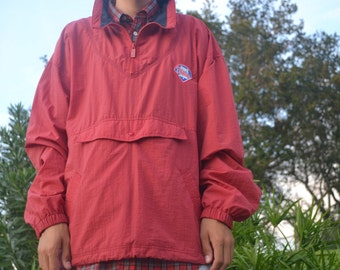 Vintage 'Phillies' Windbreaker By Gear for Sports Size L Half-Zip Pullover Nylon-Poly Made in Hong Kong Free US Standard Shipping
