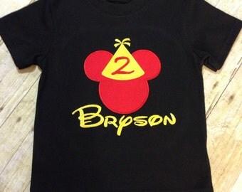 Mickey Birthday Shirt/ Mickey tee/ Mickey Mouse birthday/ First Birthday shirt