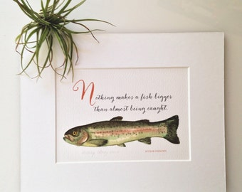 Giclée print of a Rainbow Trout Painting by Mary Braz.