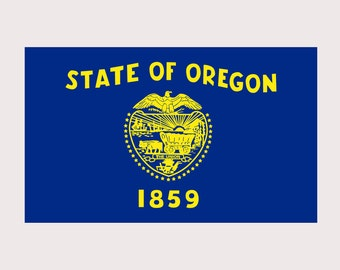 Oregon Pride State Flag - REFLECTIVE - Full Color Decal for Macbook, Laptop or other device