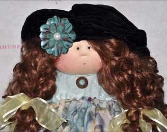 "Little Souls Doll, Little Souls Swanky, Little Souls Katelyn 24"", Gretchen Wilson, Cloth Dolls, One-Of-A-Kind, Dolly Mama, Ooak"