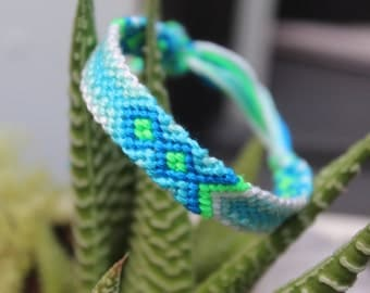 Neon Blue Friendship Bracelete