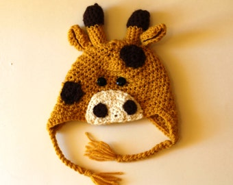 All Sizes - Crocheted Giraffe Hat Toque