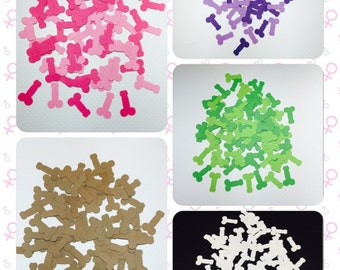 Penis Confetti *324 ct!!* Die Cut Outs Party Favors Table Decoration Invitations Novelty Gag Embellishment