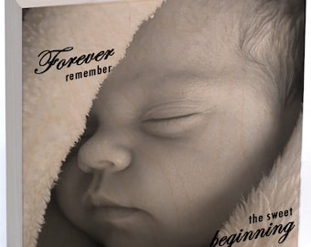 REAL Wood Photo Prints-Custom WOOD Print Keepsake-Wood Print Baby-Baby Portraits