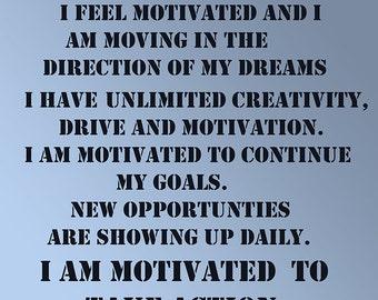 Affirmations Uplifting Printable/Words/Motivation