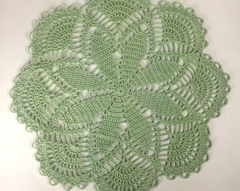 Crochet Frosty Green Doilie (#02-01)
