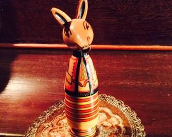 Sly Fox Painted Spool Doll