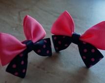Pink Blue handmade, hair clip, girls hair clip, women hair clip, children hair clip, party hair clip, cute gift for girls
