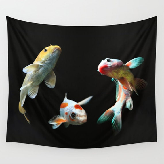 Animal tapestry fish tapestry goldfish art nature tapestry for Secret fish in tap tap fish