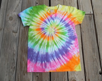 Gorgeous Tie-Dye Shirt Made to Order in Pink, Purple, Blue, Green, Orange, Yellow Choose Adult Size Small – XX Large. V–Neck or Round Neck.