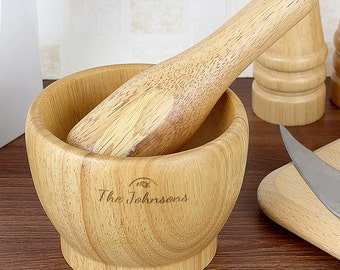 Full of Love - Personalised Wooden Pestle & Mortar