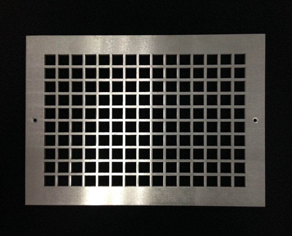 Decorative Vent Covers Hvac Register Brushed Aluminum