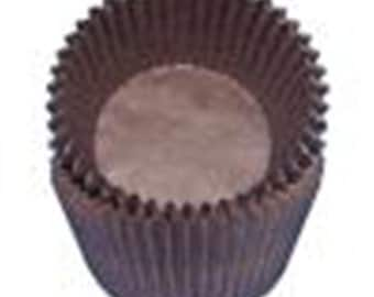 Brown Cupcake Liners - 100 Count