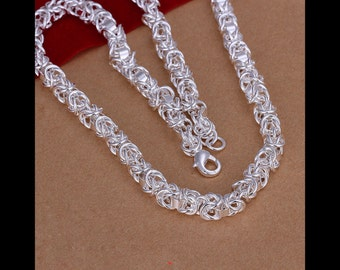 Silver buckle charm Necklace