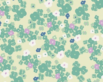Love Notes Mint > Poetica from Art Gallery Fabrics < Half Yard off the Bolt