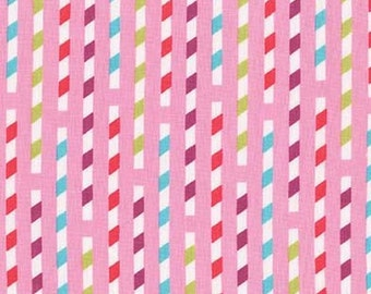 Sodalicious Sippy Straws Strawberry > Emily Herricks for Michael Miller Fabrics < Half Yard off the Bolt