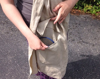 Linen Ring Sling with Pocket