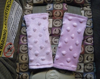 Minky Car Seat Strap Covers - Blue or Pink