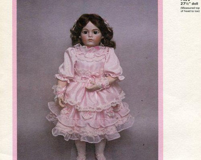FREE usa SHIP Byron Doll Pattern 1980's by-42 Casimir Bru Jne 13 Collette 27.5 New Old Store Stock Sewing Pattern