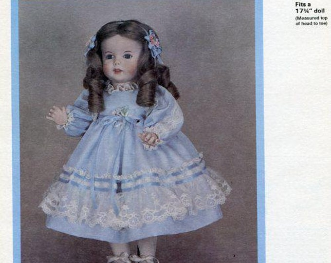 FREE US SHIP Byron Doll Pattern 1980's By-215 Twirp Marilyn 17 3/4  Old Store Stock Sewing Pattern