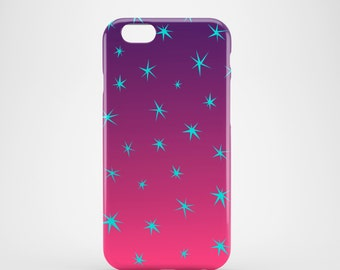 Tropical sky iPhone 6S case / gradient iPhone 6S case / night stars iPhone 6S case / purple iPhone 6S case / FREE UK SHIPPING