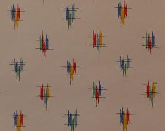 25% off SALE! Vintage Wallpaper Modern Retro Graffita Bright Colorful Diamonds