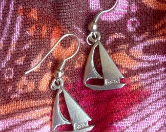 Sailboat Charm Earrings