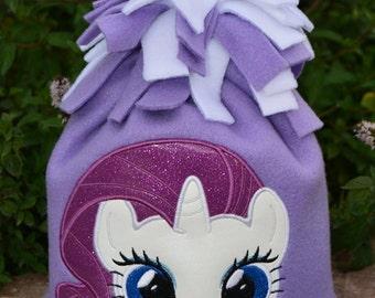 White Pony Fleece Hat