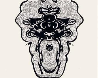 Africa trippy inspired Ink blots