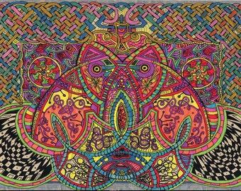Celtic Knotwork Mandala Trippy Art Psychadelic Art Sacred Geometry Zentangle