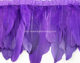 Duck duck goose purple feather fringe (selling per yard)