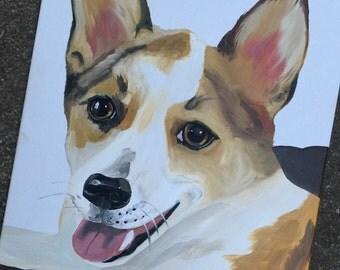 Custom pet portrait, custom dog portrait painting, custom dog painting, custom pet painting