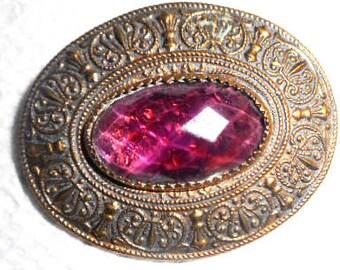 A Oval Jewel Button