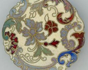 An Old Enamel Button