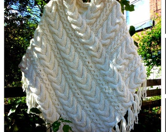 Cabled Poncho Knitting Pattern