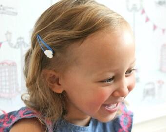 Cloud  Hair Clips - Laser cut acrylic - clouds - hair accessories - girls hairclips - girls accessories