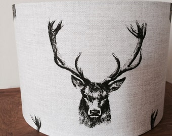 Handmade stag lampshade