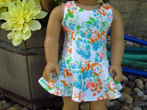 Floral Skater Dress - American Girl Doll Clothes