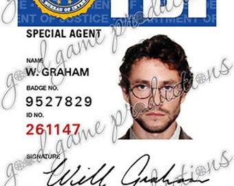 Hannibal ID Badge - Will Graham (Hugh Dancy) [PVC & Screen Accurate]
