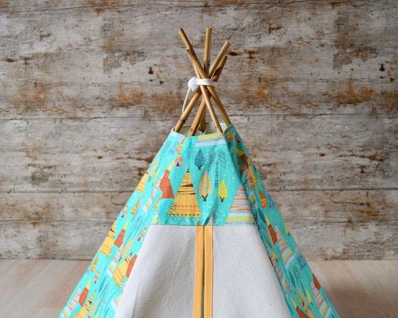 lit cochon d 39 inde tipi lapin tente chaton motif par hiptepeehooray. Black Bedroom Furniture Sets. Home Design Ideas