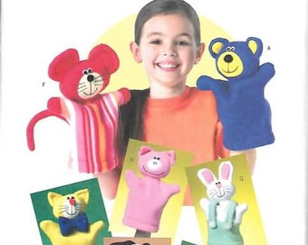 Hand Puppets New Sewing Patterns  Butterick 4209