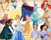 42 Disney Princess Clipart 01 Princess Clip Art Disney PNG Disney Clipart INSTANT DOWNLOAD printable 300 dpi