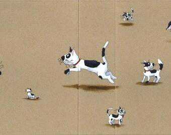 Happy cat - original ILLUSTRATION-