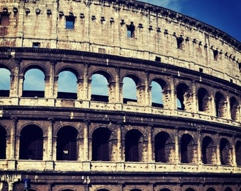 Colosseum print Travel photography Printable wall decor Old architecture Photography rome Photo print Instant download Digital photo art 2L6