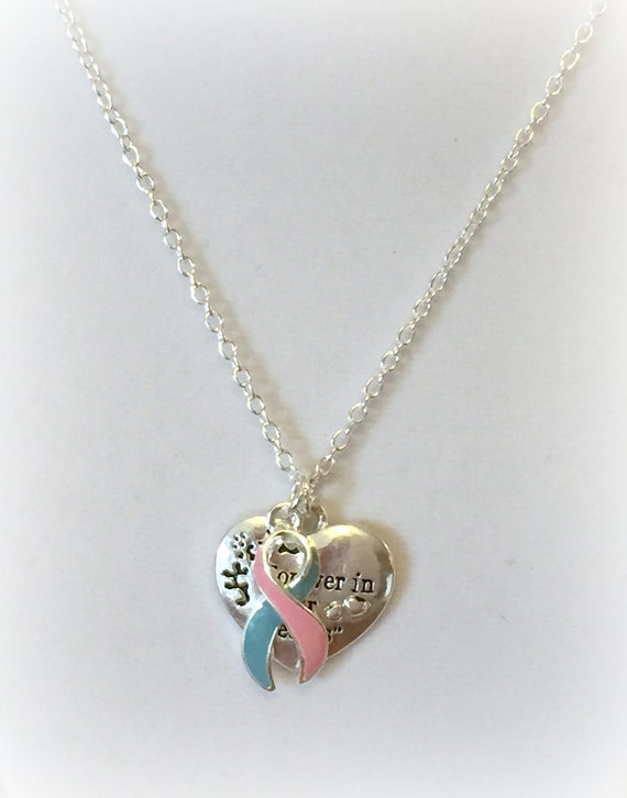 Pregnancy and Infant Loss Awareness Necklace by RusticRing ...